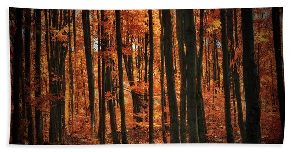 World With Octobers Beach Towel