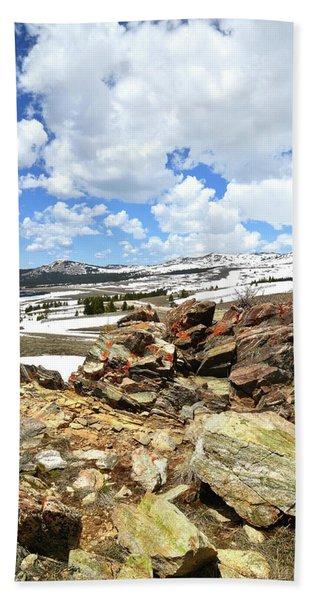 Wyoming's Big Horn Pass Beach Towel