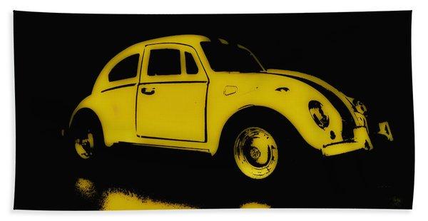 Yellow Bug Beach Towel