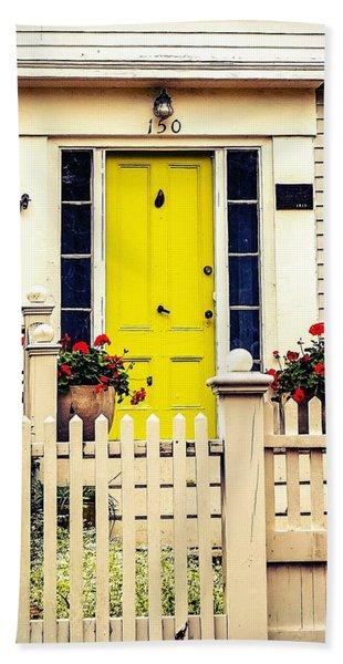 Yellow Door Beach Towel