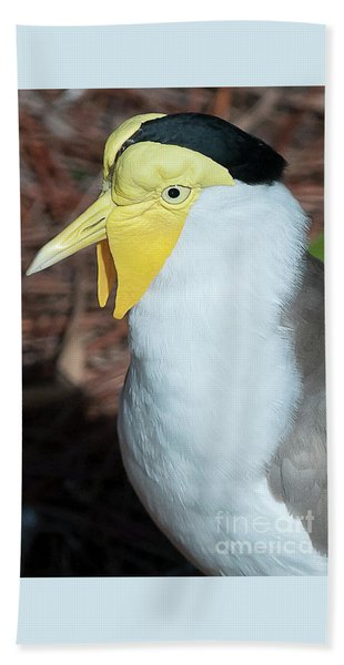 Yellow Headed Bird Beach Towel