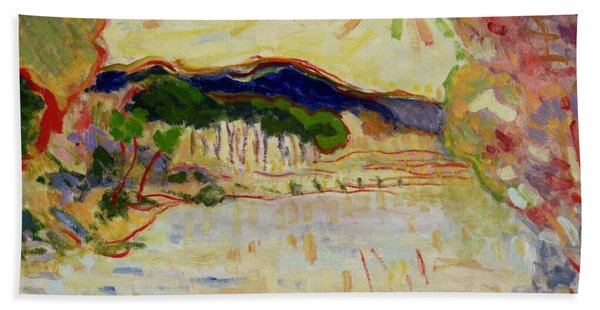 Beynac Et Cazenac , Dordogne , Yellow Sunshine  Beach Towel