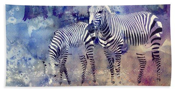 Zebra Paradise Beach Towel