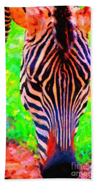 Zebra . Photoart Beach Towel