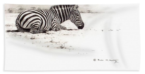 Zebra Sketch Beach Towel