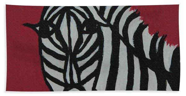 Zena Zebra Beach Towel
