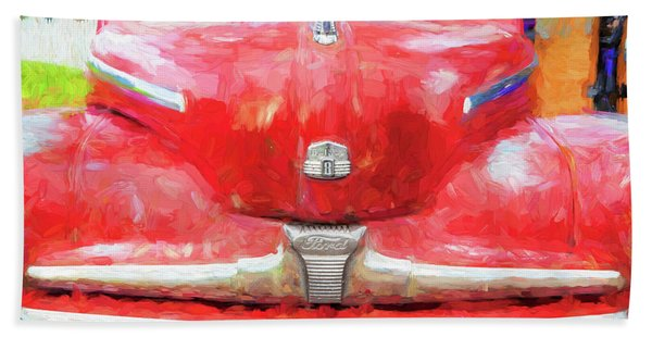 1947 Ford Super Deluxe Coupe 006 Beach Towel