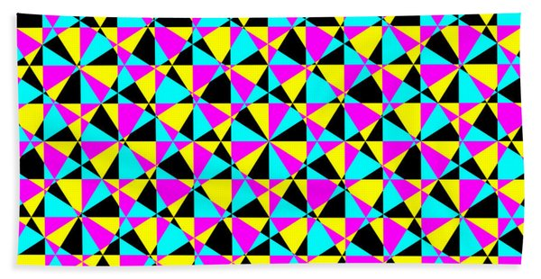 Crazy Psychedelic Art In Chaotic Visual Color And Shapes - Efg22 Beach Sheet