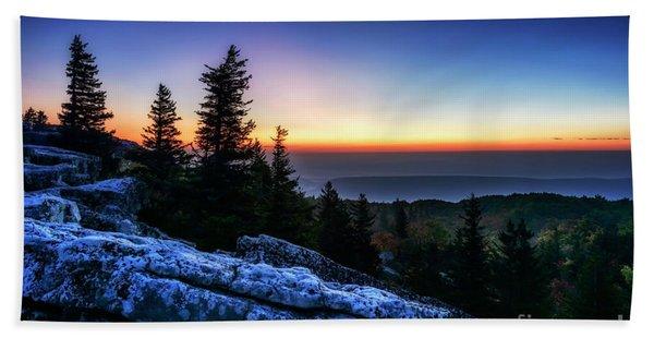 Dawn At Bear Rocks Preserve Beach Towel
