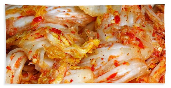 Korean Style Fermented Spicy Cabbage Beach Towel