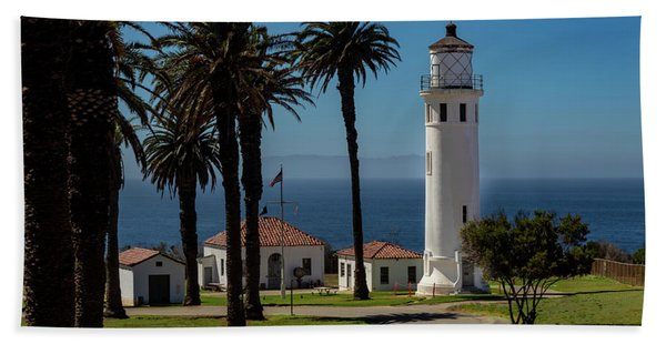 Point Vicente Lighthouse Beach Towel