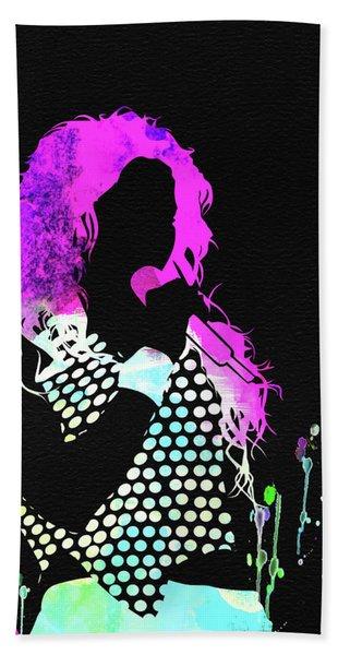Shakira Watercolor Beach Towel