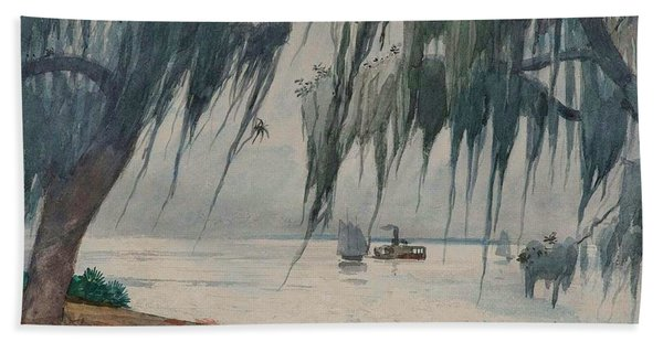 Spanish Moss, Tampa Bay, Florida Beach Towel