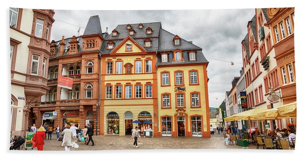 Trier, Germany,  People By Market Day Beach Towel
