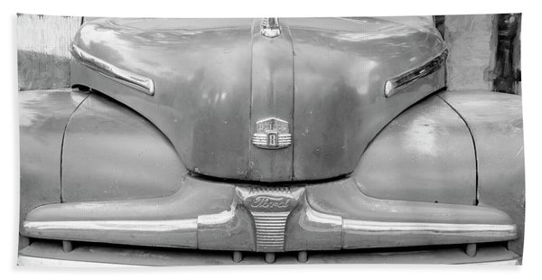 1947 Ford Super Deluxe Coupe 003 Beach Towel