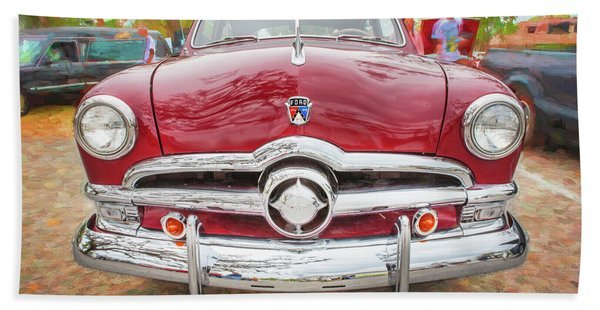 1950 Ford Deluxe 2-door Club Coupe 200 Beach Towel