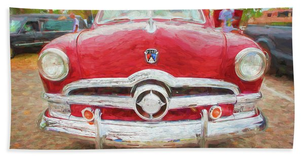 1950 Ford Deluxe 2-door Club Coupe 202 Beach Towel