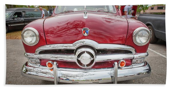 1950 Ford Deluxe 2-door Club Coupe 203 Beach Towel