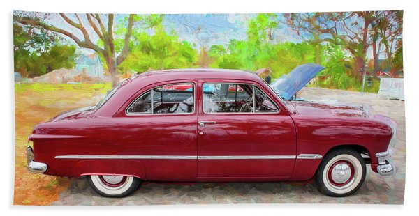1950 Ford Deluxe 2-door Club Coupe 204 Beach Towel