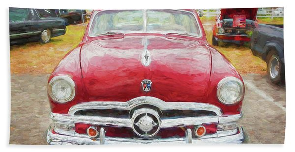 1950 Ford Deluxe 2-door Club Coupe 209 Beach Towel