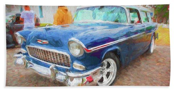 1955 Chevrolet Bel Air Nomad Station Wagon 207 Beach Towel
