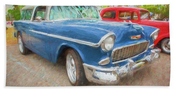 1955 Chevrolet Bel Air Nomad Station Wagon 214 Beach Towel