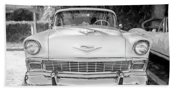 1956 Chevrolet Bel Air 2 Door 13a Beach Towel