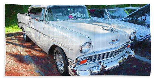 1956 Chevrolet Bel Air 2 Door 14a  Beach Towel