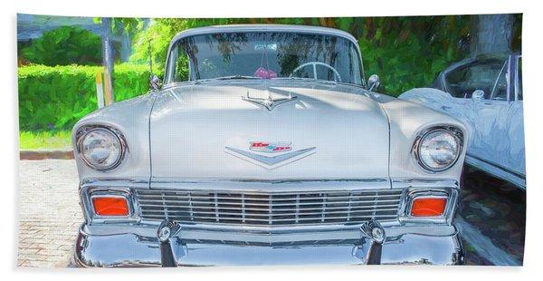 1956 Chevrolet Bel Air 2 Door  Beach Towel