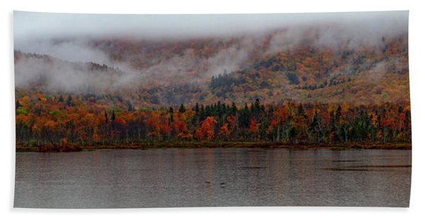 Beach Towel featuring the photograph The Basin In Maine by Jeff Folger