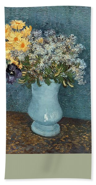 Vase Of Flowers Beach Towel