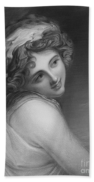 A Bacchante, From The Picture In The Vernon Gallery Beach Towel