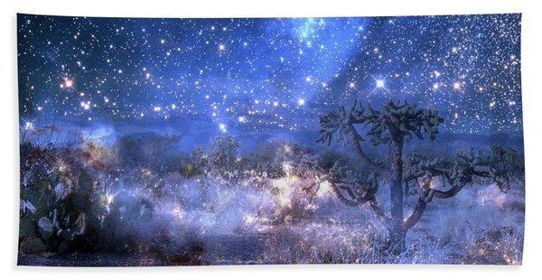 A Starry Night In The Desert Beach Towel