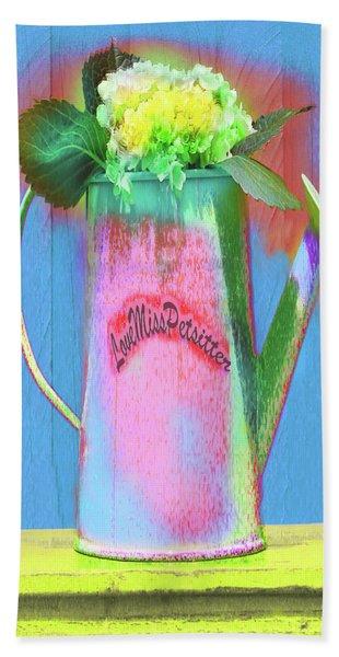 Abstract Floral Art 377 Beach Sheet