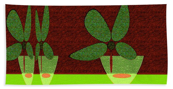 Abstract Floral Art 385 Beach Towel