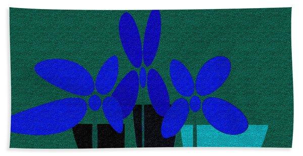 Abstract Floral Art 392 Beach Sheet