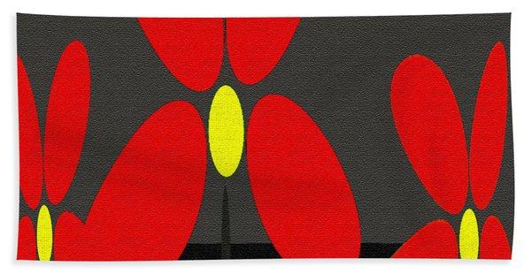 Abstract Floral Art 393 Beach Sheet