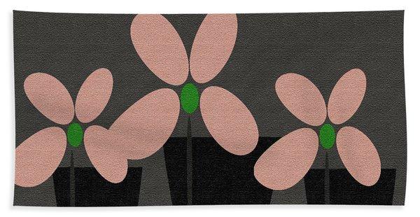 Abstract Floral Art 394 Beach Sheet