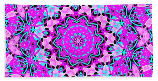 Abstract Spun Flower Beach Sheet