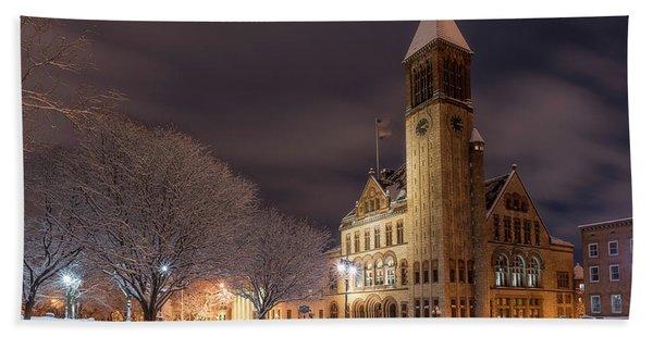 Albany City Hall Beach Towel