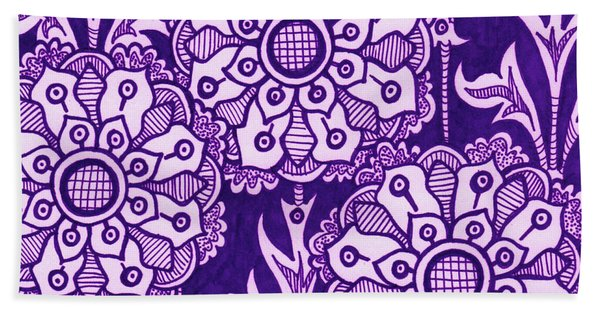Alien Bloom 1 Beach Towel