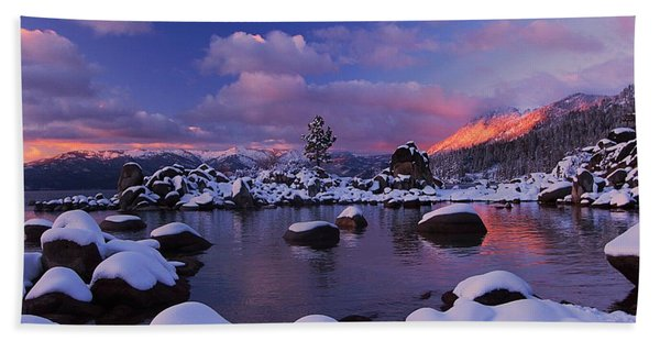 Beach Towel featuring the photograph Alpenglow Visions by Sean Sarsfield