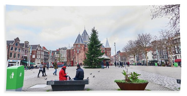 Amsterdam Christmas Beach Sheet