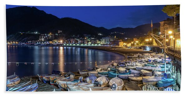 An Evening In Levanto Beach Towel