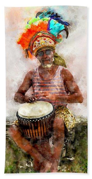 Antiguan Drummer Beach Towel