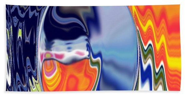 Beach Towel featuring the digital art  Ooo by A z akaria Mami