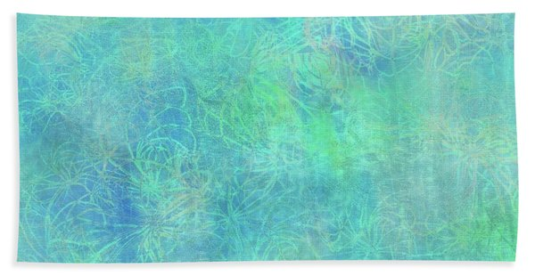 Aqua Batik Print Coordinate Beach Sheet