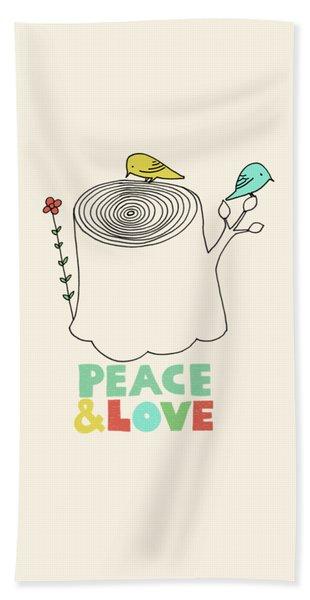 Peace And Love Beach Towel