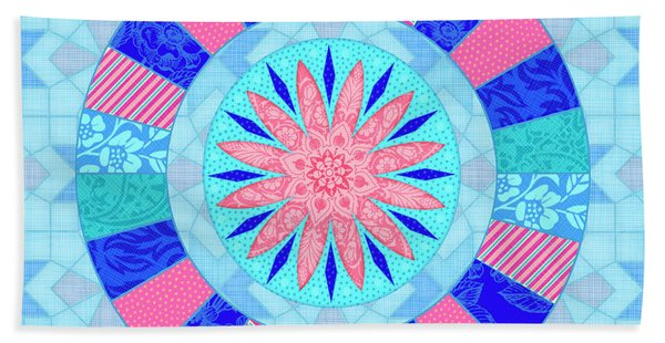 Q Is For Quilt And Quill Beach Towel
