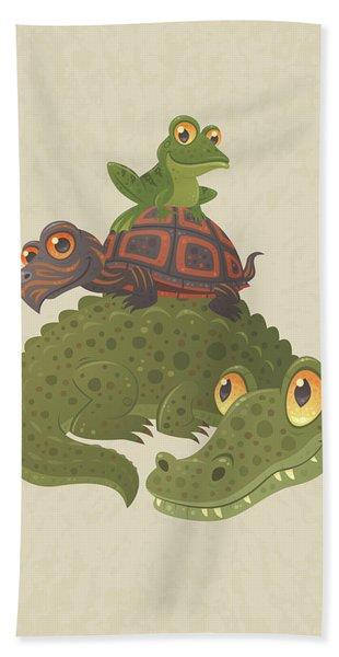 Swamp Squad Beach Towel